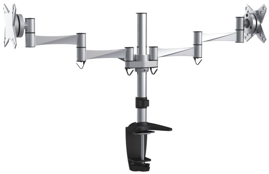 Brazo giratorio mesa soporte doble dual monitor soporte for Soporte monitor mesa